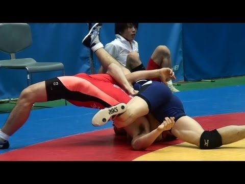 Freestyle Wrestling PIN - Tenri University vs Tezukayama