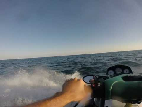 Jet skiing lake Ontario