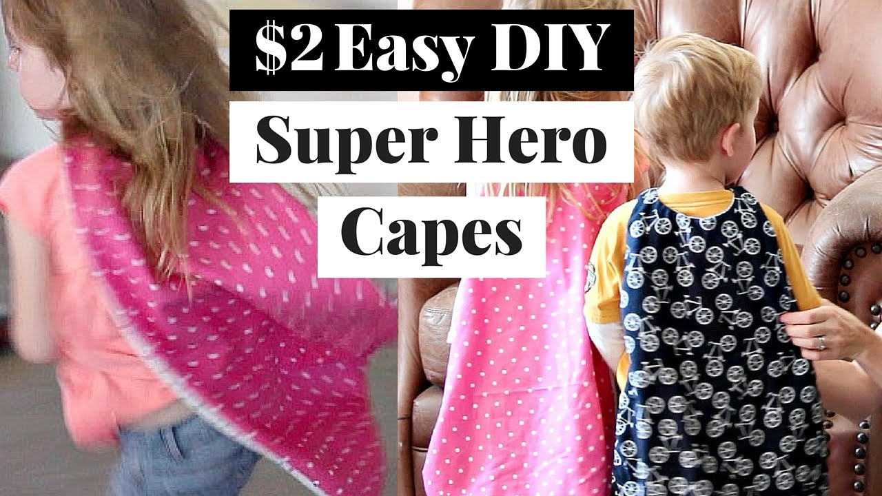 easy quick cheap superhero cape superhero cape tutorial youtube