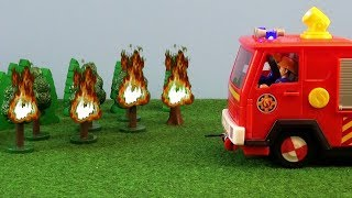 Fireman Sam Toys Episode 27 Forest Fire Jupiter Trailer Firefighter Sam Toy 2019 Fire Station