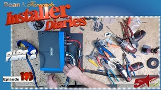 High level 5 channel Kicker Q Class amp install in a F150 Installer Diaries 193 part 2