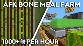 Minecraft Bone Meal Farm - 1000+ Per Hour Using Melons! Easy Build! 1.16/1.15