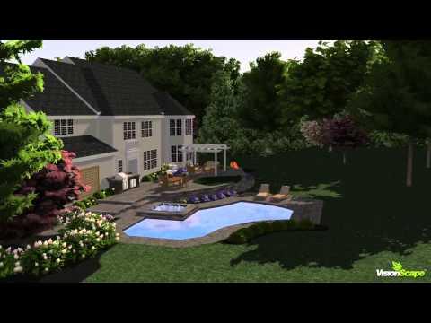 Saratoga Residence Backyard Landscape Model