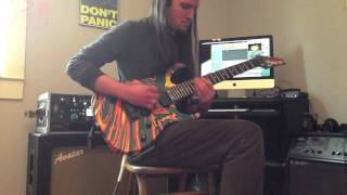 Whitechapel The Saw is the Law (new song 2014 Our Endless War) HQ guitar cover + solo - Ben Eller