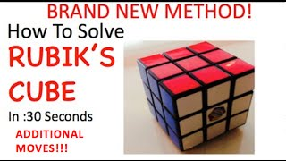 How To Solve Rubiks Cube - ADDITIONAL MOVES FOR part 5 thumbnail