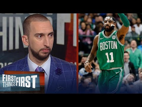 Nick Wright reacts to Kyrie's performance in Boston's 110-102 win over Dallas | FIRST THINGS FIRST