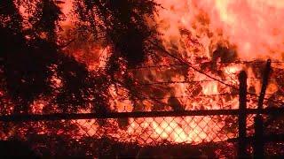 Major Fire at Jim Beam Bourbon Warehouse