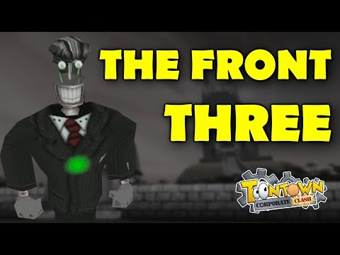 Toontown Corporate Clash: First Look At The Front Three
