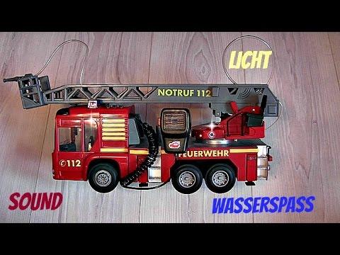 feuerwehr fire hero von dickie toys sound licht wasserspritze firetruck youtube. Black Bedroom Furniture Sets. Home Design Ideas