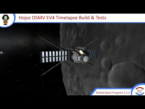 Hojoz Deep Space Mining Vehicle EV4 Timelapse Build & Flight Tests