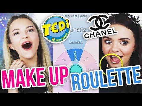 Ich spiele MAKE UP ROULETTE mit ALYCIA MARIE | 1 € Shop Schminke vs LUXUS Kosmetik