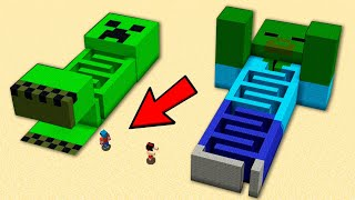 MINECRAFT: Laberinto CREEPER Vs Laberinto ZOMBIE 😱😂 La BASE SECRETA más SEGURA de Minecraft