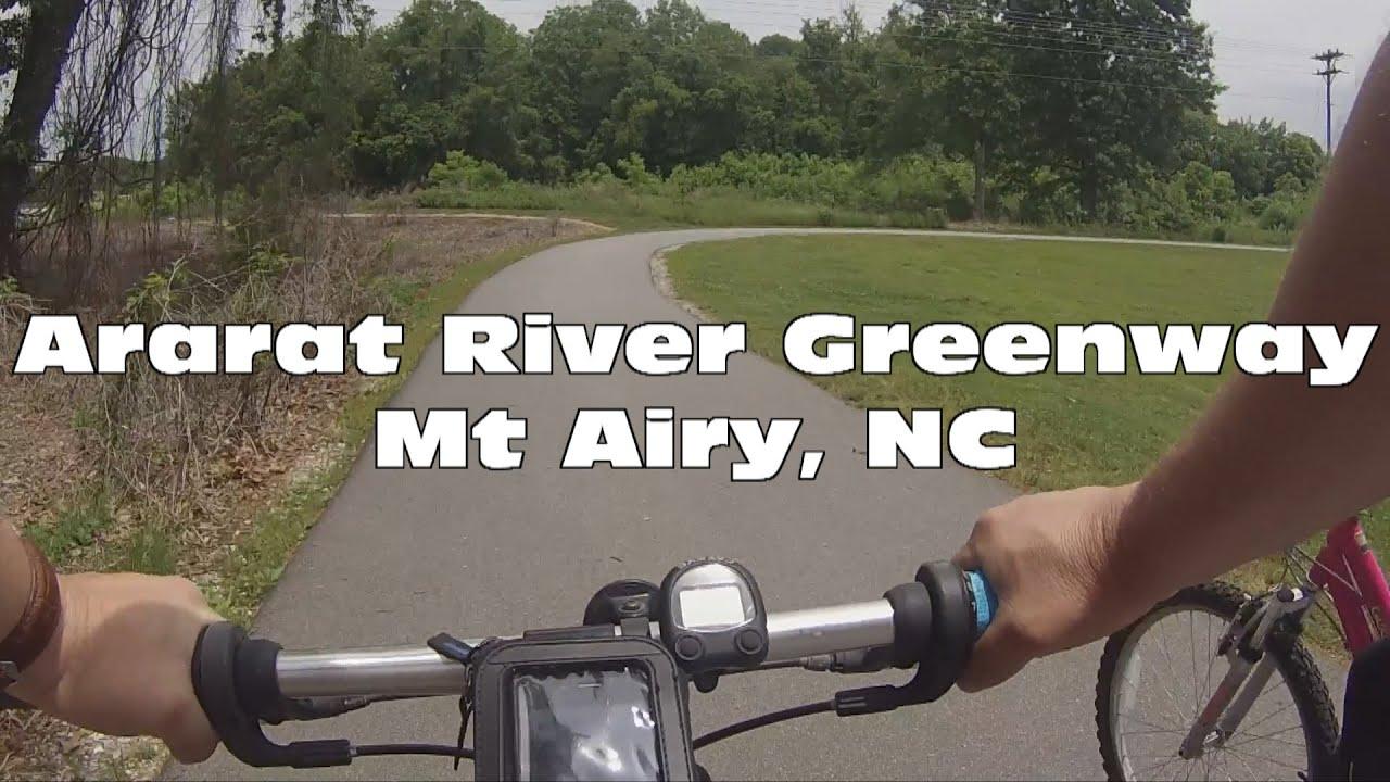 Bike Ride Along The Ararat River Greenway In Mt Airy North Carolina