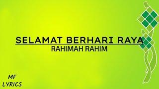 Cover images Rahimah Rahim - Selamat Berhari Raya (Lirik)
