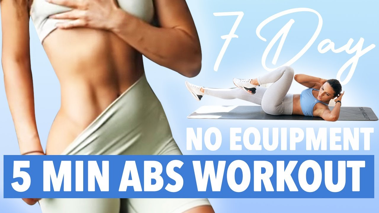 5 MIN ABS WORKOUT - 7 DAY CHALLENGE - NO EQUIPMENT // Krissy Cela