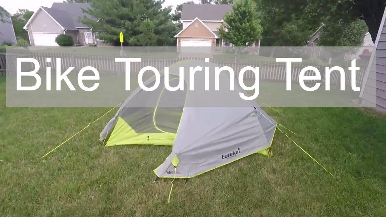 Bike touring Tent Setup - Eureka Midori 2 & Bike touring Tent Setup - Eureka Midori 2 - YouTube