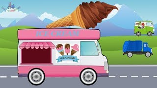 Ice Cream Car and others Cars and Trucks for kids | Street vehicles | Samochód z lodami