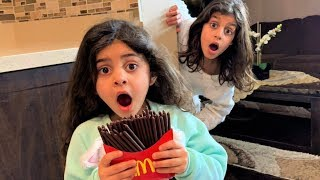 Sally Play Magic McDonald's Happy Meal Chocolate Fries