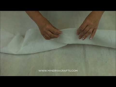 Vilene Sew In Low Loft Volume Fleece Batting Wadding  White