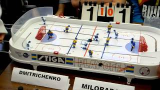 Table Hockey. Moscow Open 13. Dmitrichenko-Miloradov. Game 2