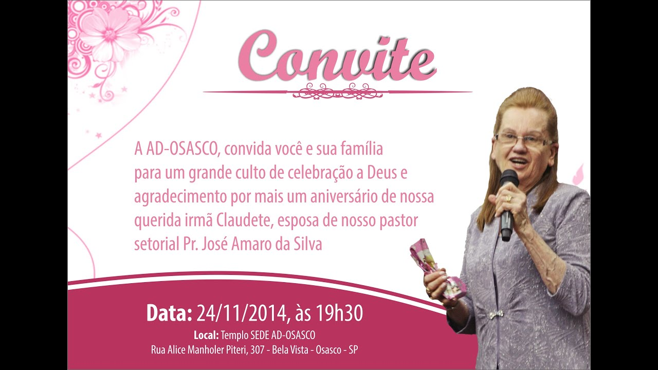 Culto De Ação De Graças Pelo Aniversário Da Irmã Claudete Cabrel 24112014