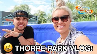 THORPE PARK VLOG | August 2020 | Queues, Rides, Social Distancing & More | HeyIt'sTom&El