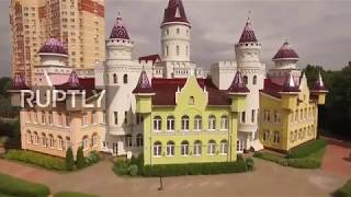 A kingdom for kids – Drone captures pre-school resembling medieval castle