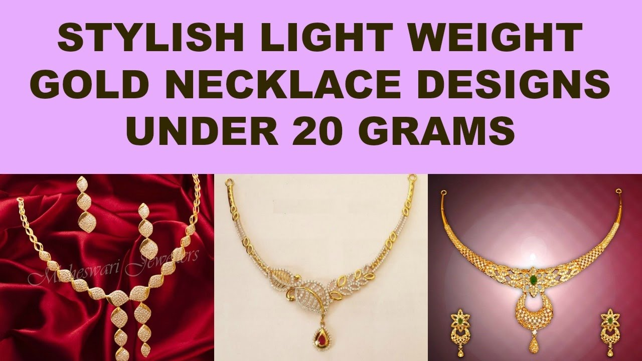 Latest Light Weight Gold Necklace Designs  Simple And Stylish ...