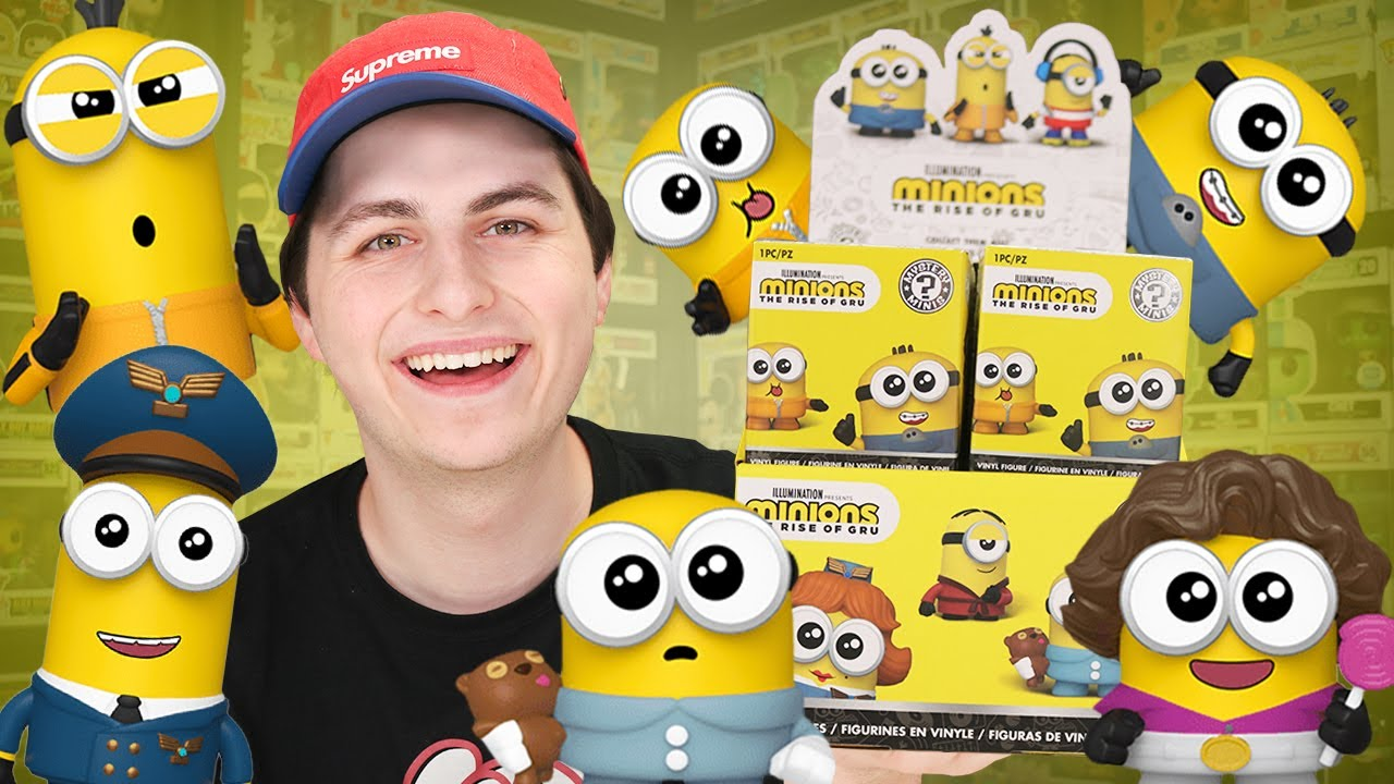 Unboxing A FULL CASE of Minions Funko Mystery Minis!