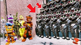 CAN THE ANIMATRONICS DEFEAT THE EVIL MY TALKING TOM 2 ARMY? (GTA 5 Mods FNAF Kids RedHatter)