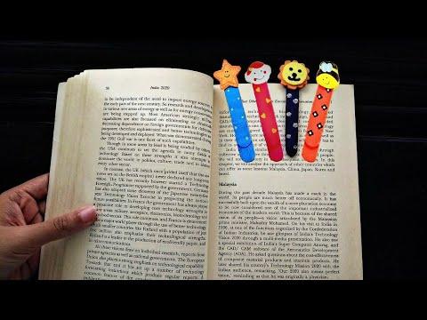 Icecream stick bookmarks / cute crafts