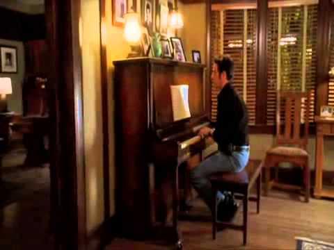 Rob Morrow plays piano Numb3rs