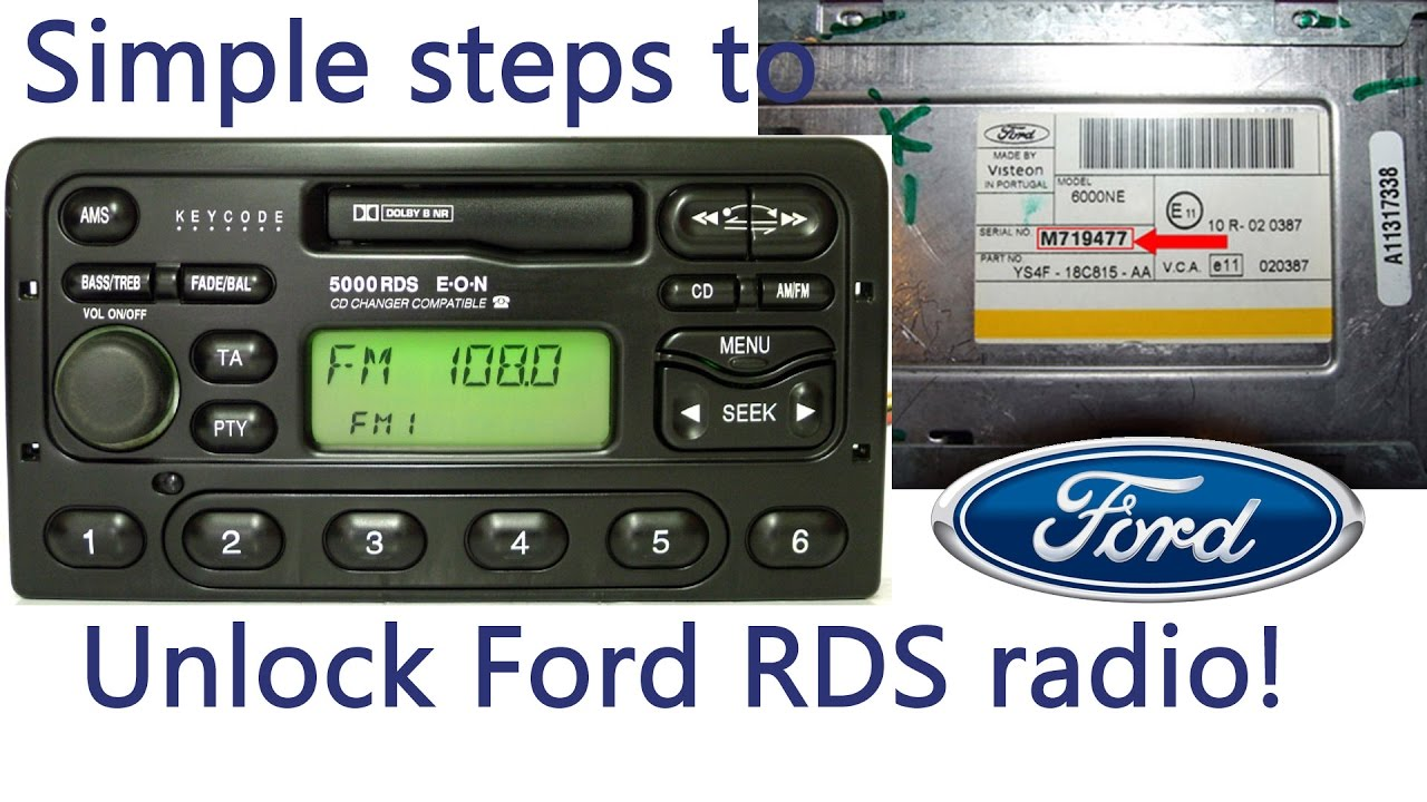 how to input radio code on ford radios rds (m series, 4000 5000