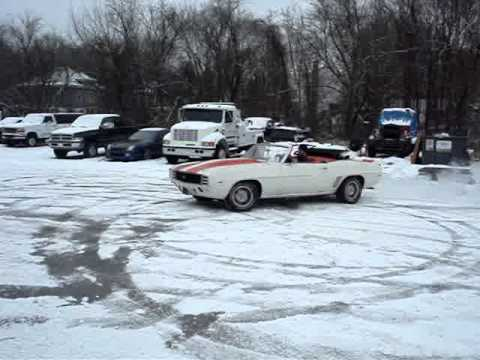 69 Pace Car Camaro Snow Donuts Youtube