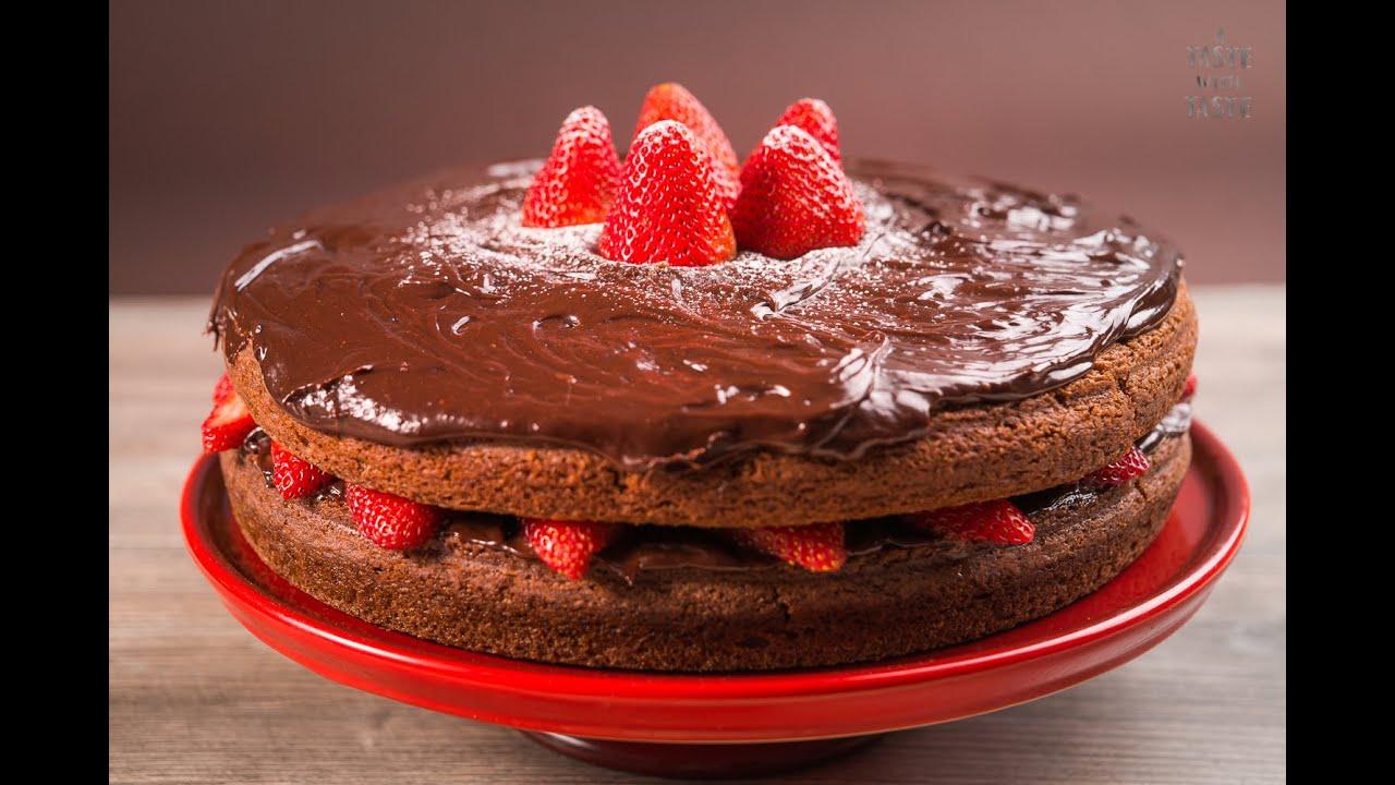 Pastel De Chocolate Con Fresas Casero Y Fácil Receta De Postre