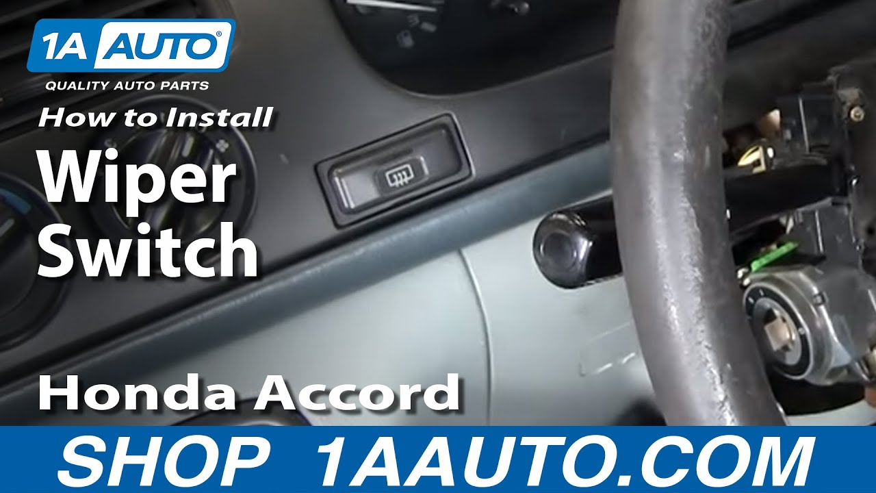 how to install replace wiper switch stalk honda accord acura cl tl
