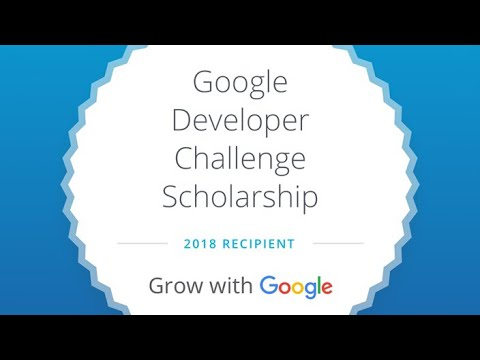 Grow with google Udacity Scholarship 2018 #Google is awesome