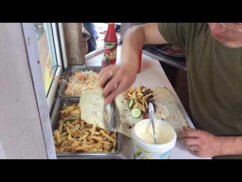 Fast food Shwarma in Karacol, Kyrgyzstan