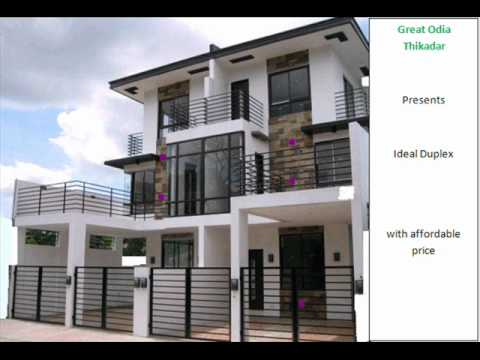 Sample Duplex Houses For Construction Youtube