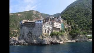 Монастыри Афона.  Греция(Первые монастыри были построены здесь в IX в. Святая Гора разделена на двадцать автономных территорий. Кажды..., 2014-05-23T13:09:19.000Z)