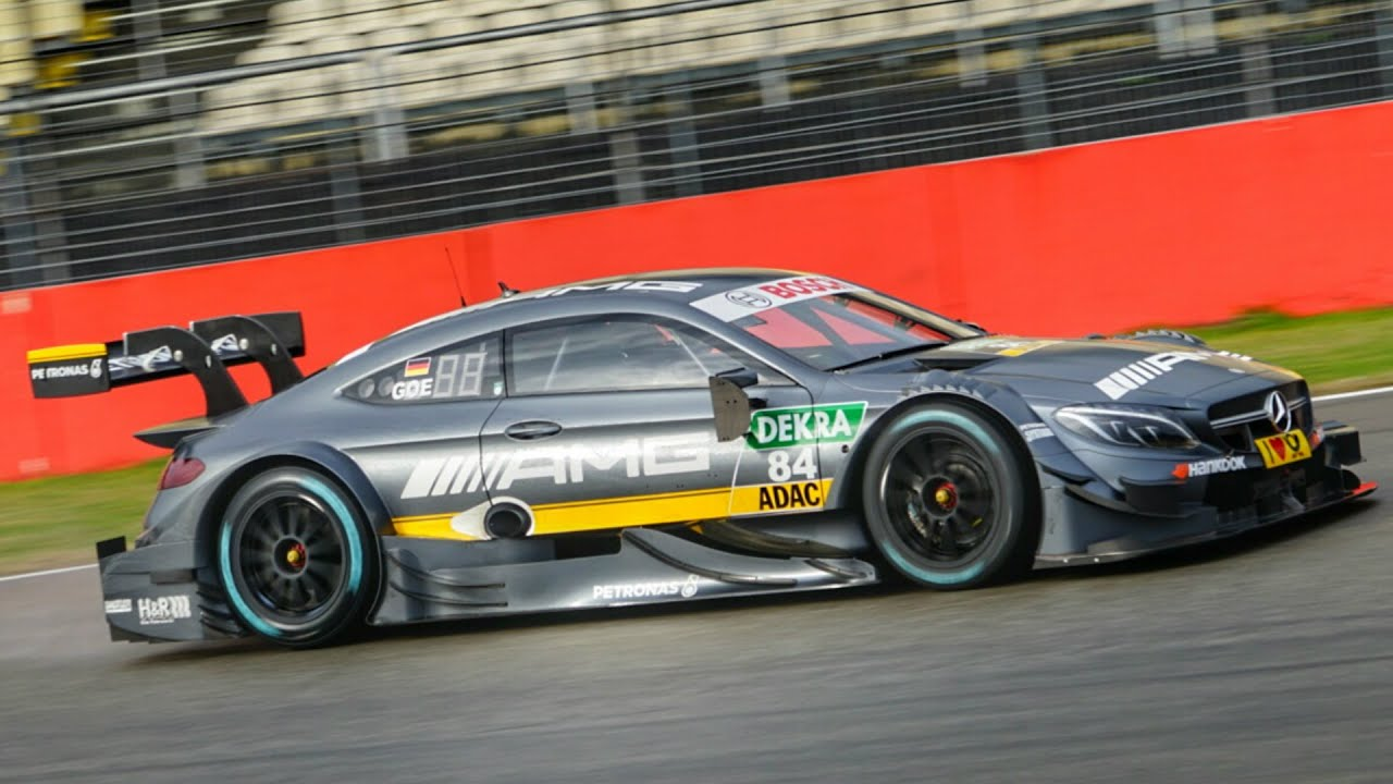 Mercedes Amg Dtm Cars On Race Track Youtube