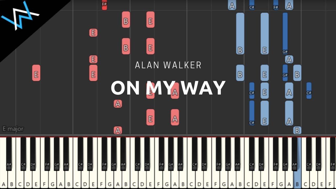 On My Way - Alan Walker [Piano] (Free midi File) - YouTube