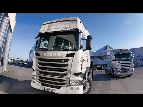 New Scania R450 - Full Day of Work! SemiTrailer driver, Sweden. GoPro POV vlog 2016