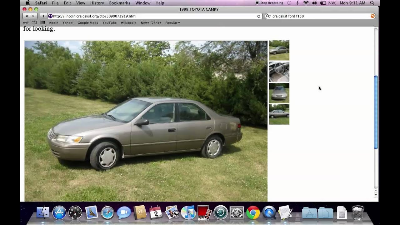 craigslist lincoln ne used cars toyota camry models for sale by owner in july 2012 youtube. Black Bedroom Furniture Sets. Home Design Ideas