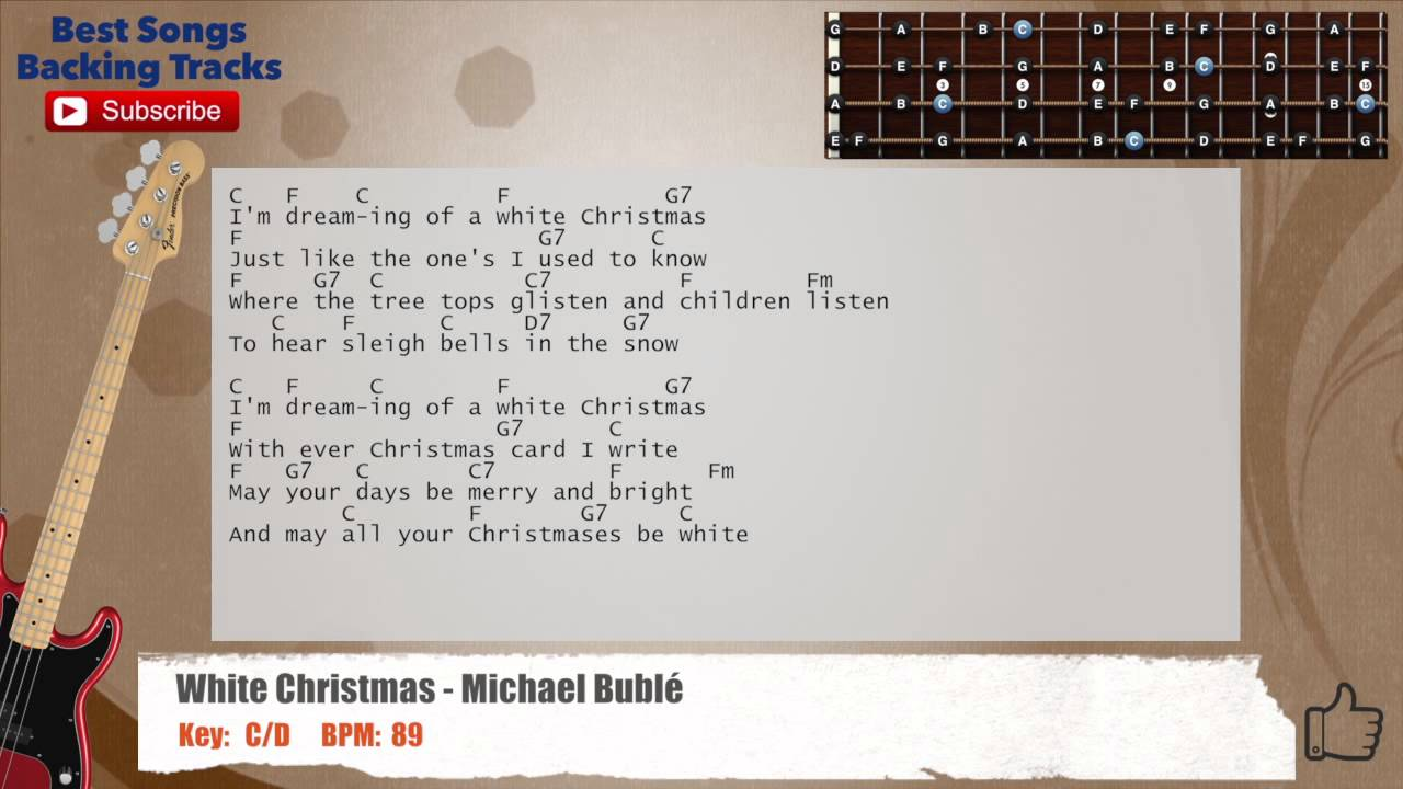 White Christmas - Michael Buble Bass Backing Track with ...