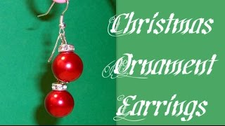 Christmas Ornament Earrings Beading Tutorial by HoneyBeads1 (Christmas jewerly)