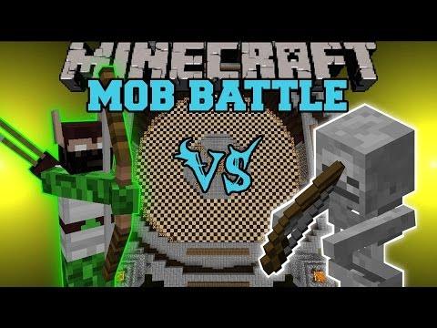 ELF HUNTER VS. SKELETON - Minecraft Mob Battles - Legendary Beasts Mod