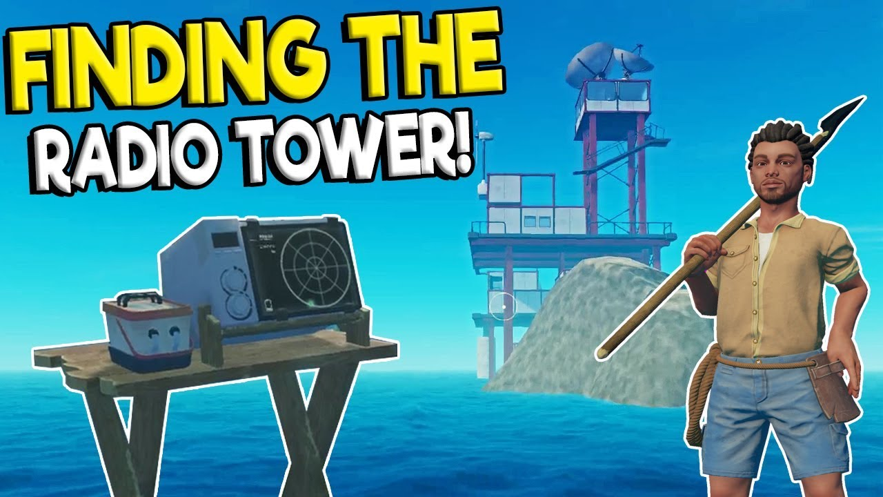 FINDING THE RADIO TOWER & SECRET UTOPIA ENDING? - Raft Survival Multiplayer  Gameplay - Raft Building
