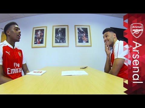 The funniest Rapid Fire yet! | Alex Oxlade-Chamberlain and Alex Iwobi