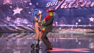 America's Got Talent - Sandy Kane the Naked Cowgirl - Audition - Season 6